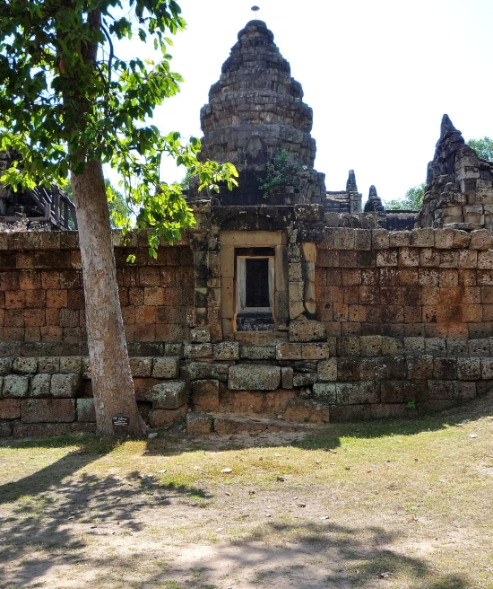 The often deserted and free to enter temple at Wat Atwea, just 5km from town