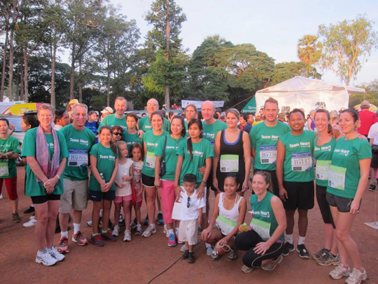 Green team - running the half marathon in aid of Angkor Hospital for Children