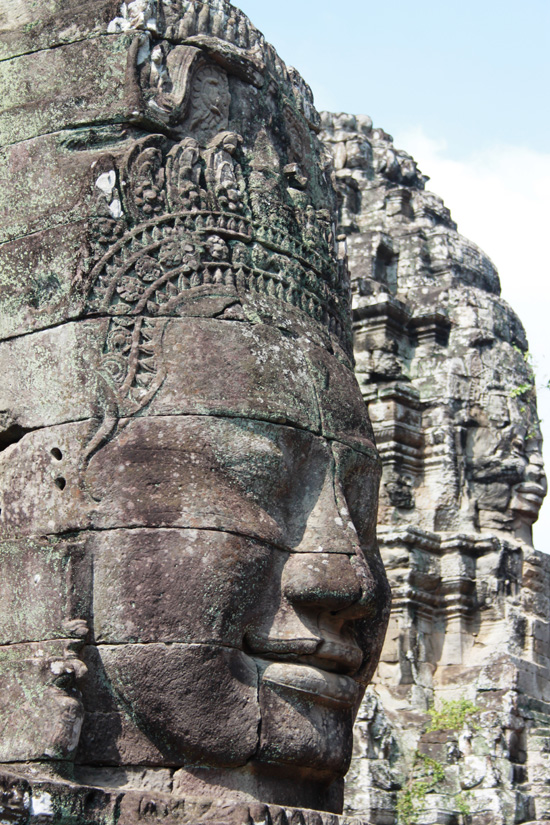 Angkor Thom is full of temples - including the famous faces of Bayon.