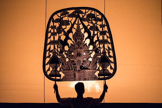 Darkness and light with shadow puppet theatre interpreting ancient Khmer legends and modern morality tales