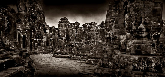 One of John McDermott's haunting images of the Bayon temple