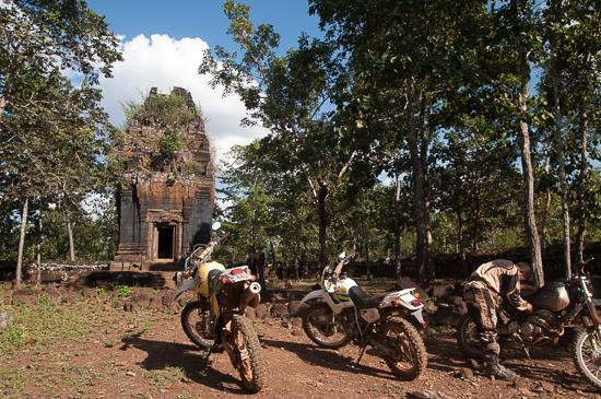 Wheels for temples: Prasat Khmao at Koh Ker.