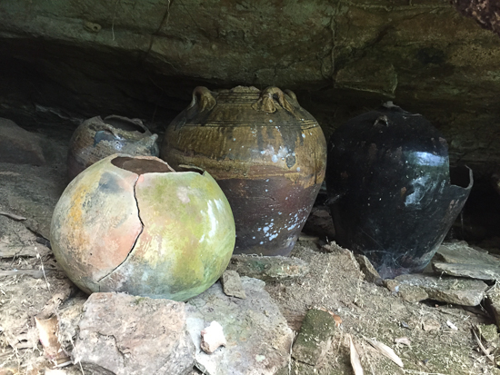Ancient burial jars.