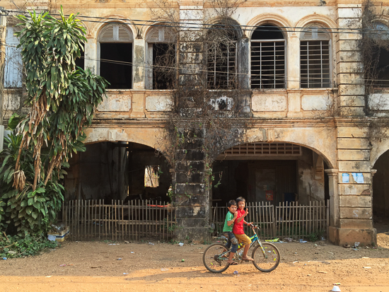 French colonial building.