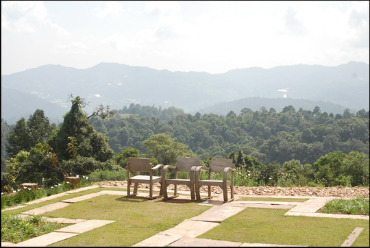 Chiang Mai mountain top view, November. This is merely standard afternoon heat haze.
