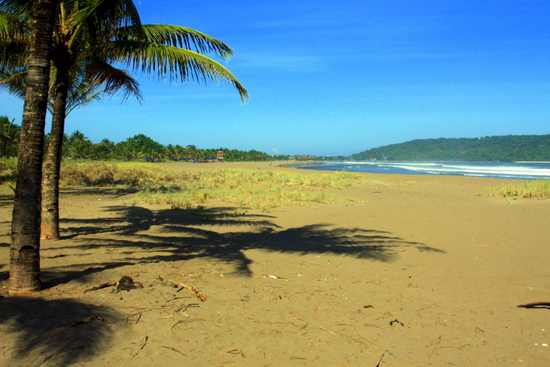 The beach at Pangandaran rivals those of Bali, but with far fewer foreigners