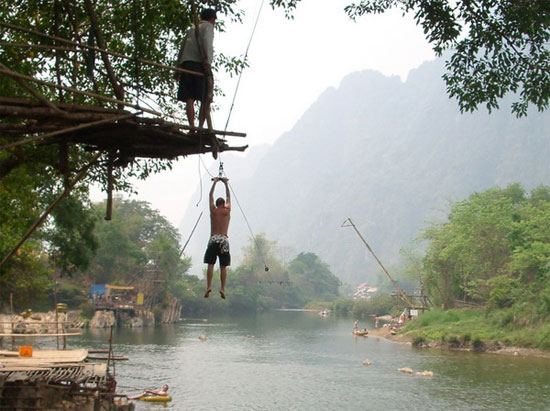 A quiet day in Vang Vieng.