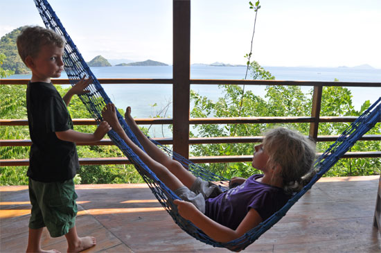 Hammock test at Waecicu Eden Beach.