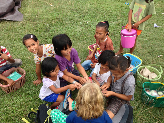 Hanging out with locals kids at Wakai.