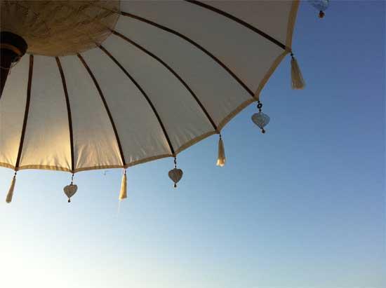 A dingle dangle and a bit of blue sky.