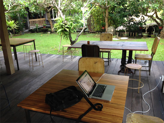 My outdoor Facebook-station, I mean Workstation.
