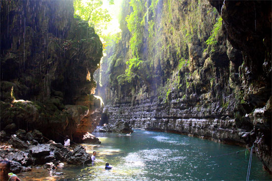 Cool off in the Green Canyon.