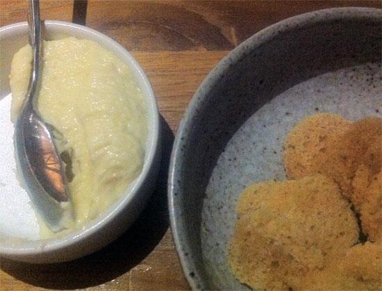Smoked mackerel aioli to get things started.