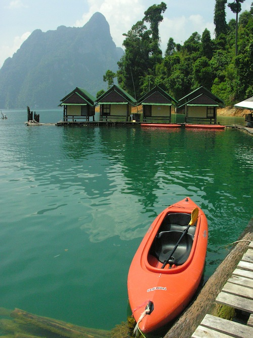 Out of bed and into the kayak -- brilliant!