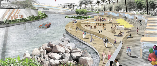 Life's a beach in the KL of the future ... possibly.