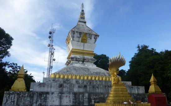 Modern telecommunications meets old stupa