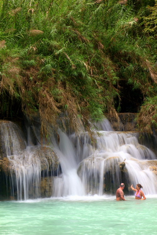 Kuang Si is a great place for a swim.