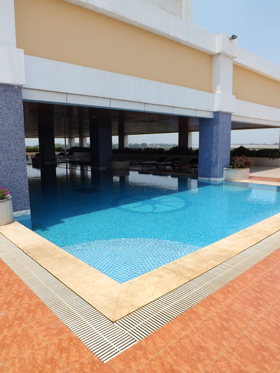 The pool at Don Chan offers respite from the heat and the sun