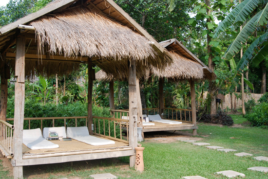 The garden salas are perfect for reading a book or an afternoon siesta