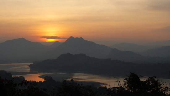 The view from Mount Phou Si.