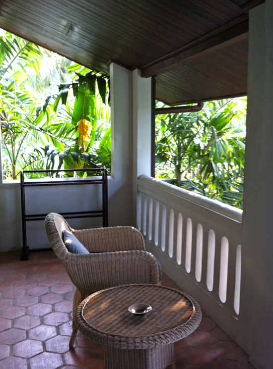 The private veranda is one of the highlights of the room.