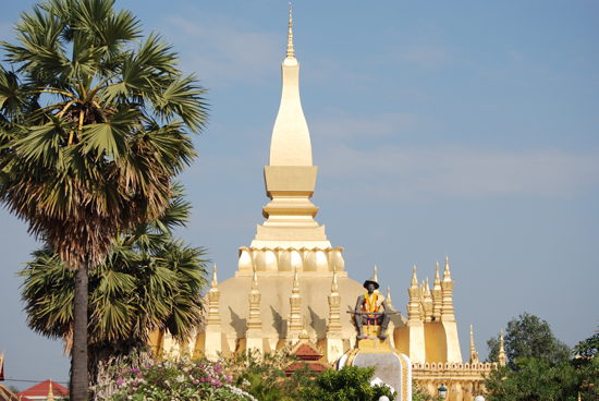 Look familiar? That Luang stupa is on all currency notes.