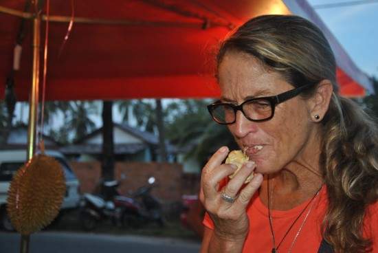 This tourist can't decide if Durian is indeed the