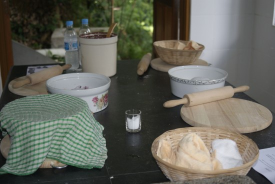 The chapati production line.