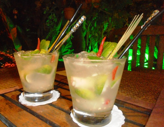 The fiery Monkey Mojitos are one of the restaurant's signature drinks.