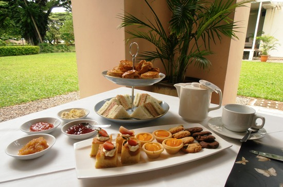 High tea on the verandah will fill you for the rest of the day.