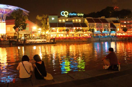 Clarke Quay is the place to be after dark - even if it's just for the view!