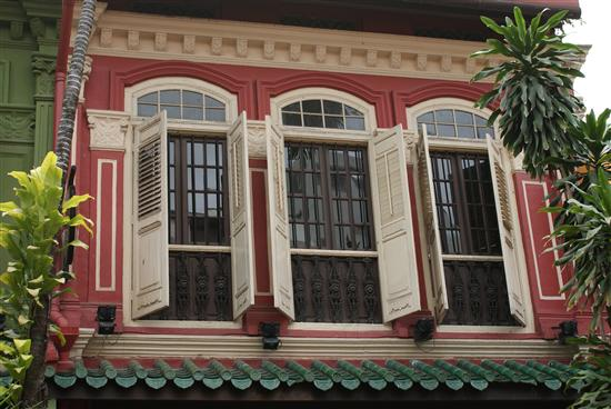 Pretty windows on Emerald Hill