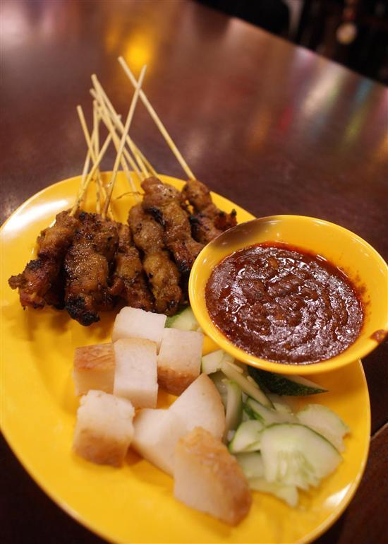 Singapore Hawker Dishes Satay