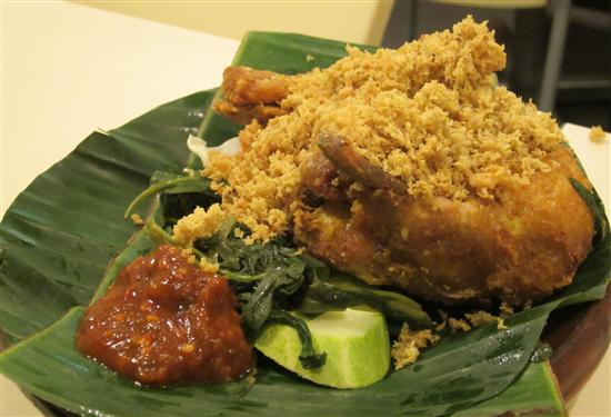 Ayam penyet - smash and burn.