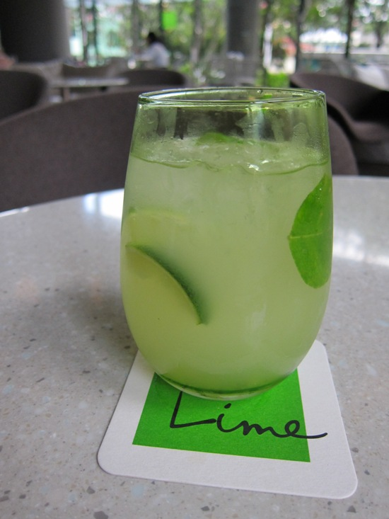 Limenade, one of the many refreshing drinks that Lime offers.