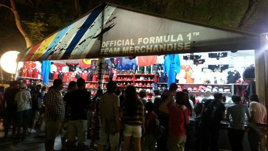 F1-crazy fans have a wider range of merchandise to choose from at the many pop-up stores.