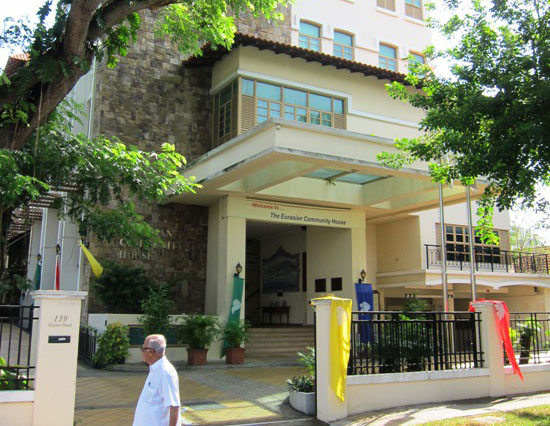 The Eurasian Association is housed in the Eurasian Community House, in a tranquil area in East Singapore.