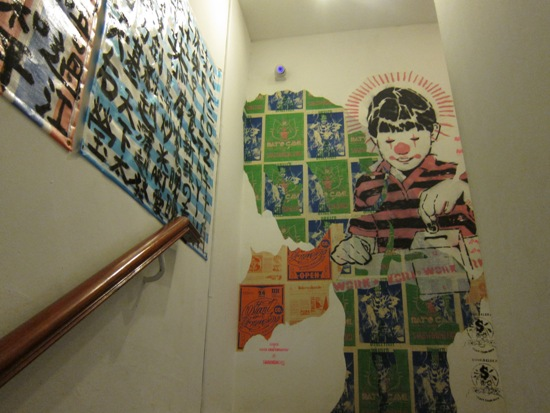 Ascending the stair, you can already tell that art is a big part of this hostel.