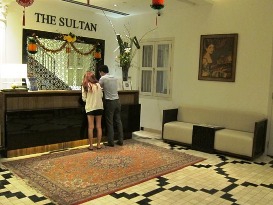 The lobby of the Sultan