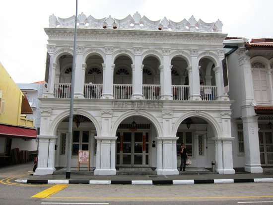 This charming building and its adjacent one make up The Sultan, preserving the original looks of Arab street.