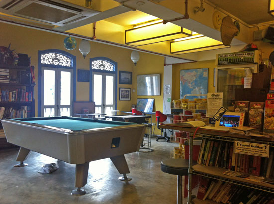 Guidebooks AND a pool table!