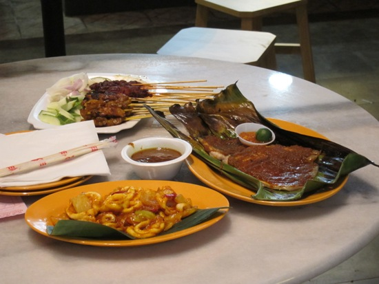 Don't forget the good old Singaporean favourites such as satay and BBQ stingray!