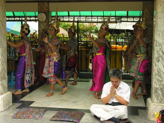 If you really want to impress Phra Phrom, hire these ladies to dance for him.