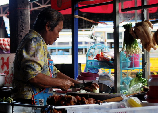 Noodle seller in Khon Kaen