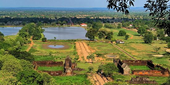 General view of Wat Phu looking towards the Mekong River