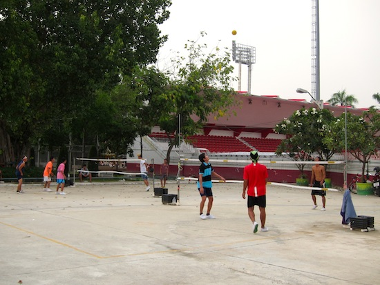 Tha kor: the unofficial national sport of Thailand.