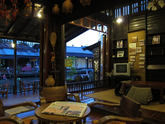 The lobby at Thanicha -- it took two nights to pull us away from this place.