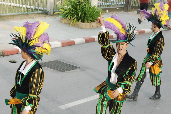 Costumes galore along the Patong beach road.