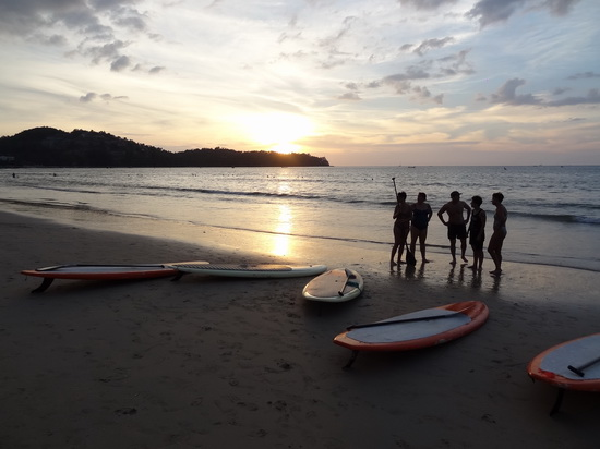 standup paddle SUP phuket sunset beach