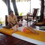 Beach massage on Samui